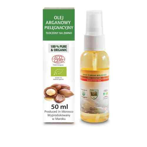 Olejek arganowy z certyfikatem biologicznym ECOCERT do włosów, twarzy i ciała, spray 50 ml EFAS
