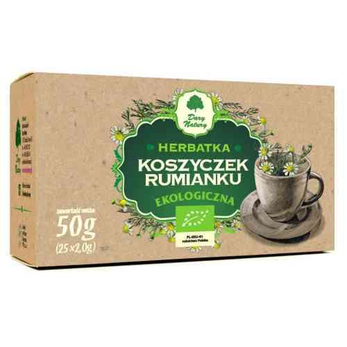 Herbata rumiankowa (koszyczek rumianku) ekologiczna 25x1,5g Dary Natury