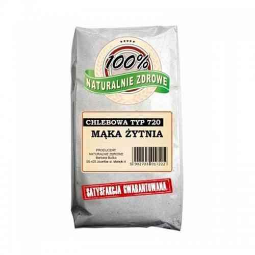 Mąka ŻYTNIA chlebowa typ 720 1kg Naturalnie Zdrowe