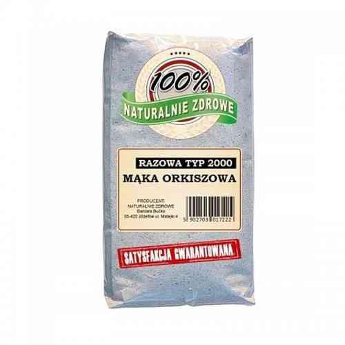 Mąka ORKISZOWA razowa typ 2000 1kg Naturalnie Zdrowe