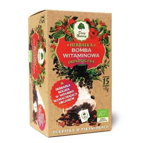 Ekologiczna herbata BOMBA WITAMINOWA 15x3g Dary Natury