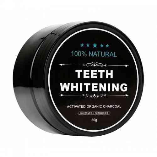 Aktywny węgiel w proszku do wybielania zębów 30g Black for White