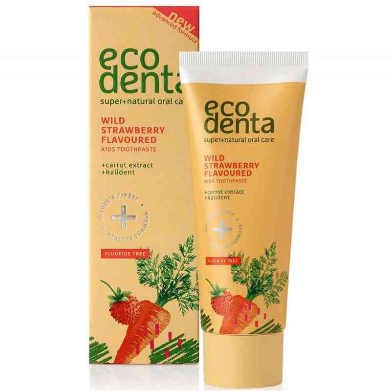 Pasta do zębów dla dzieci o zapachu poziomki z ekstraktem z marchwii i kalidentem 75ml Ecodenta