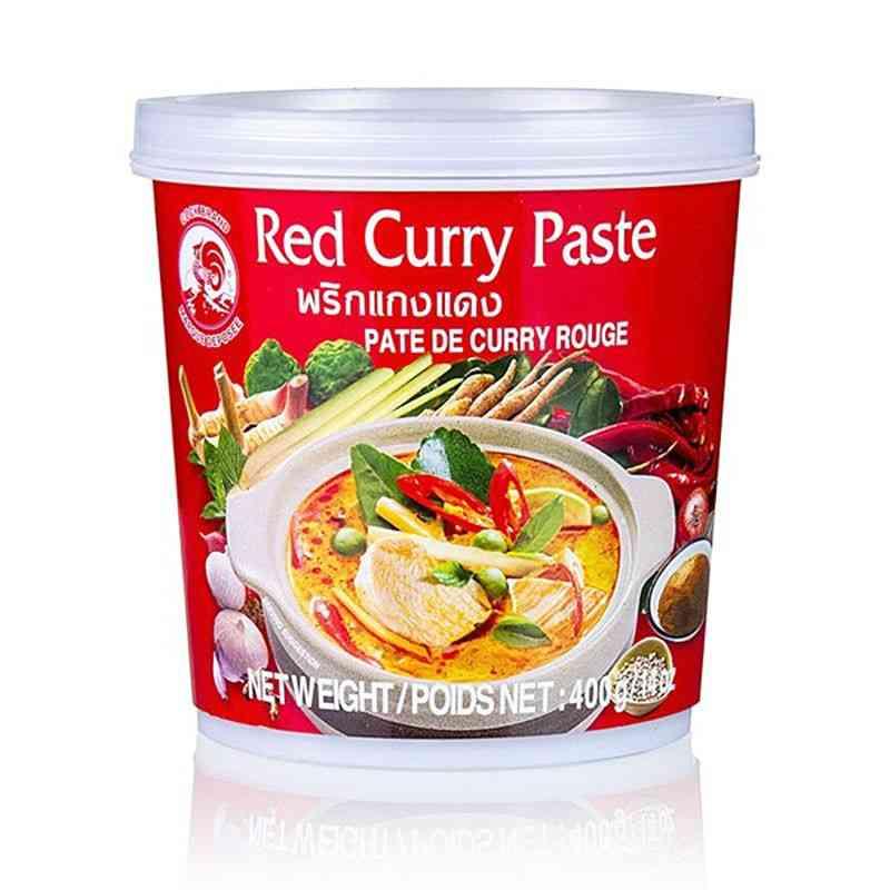 Pasta curry CZERWONA 400g Cock