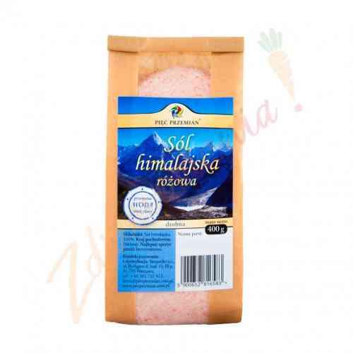 Sól himalajska różowa - drobna 400g