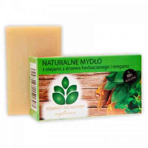 Roślinne mydło z olejami DRZEWA HERBACIANEGO I OREGANO 100g Powrót do Natury