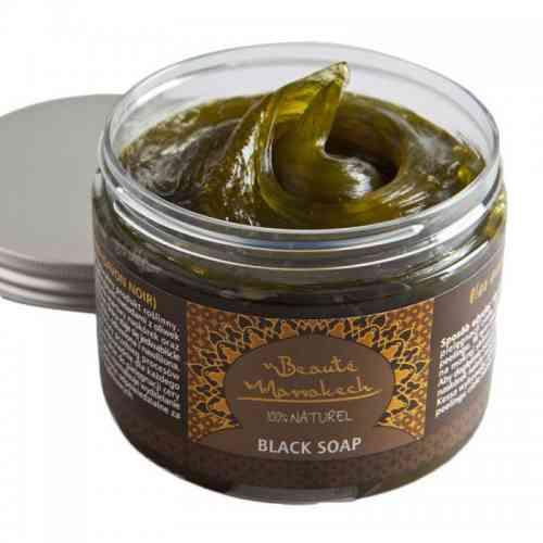 Czarne mydło Savon Noir NATURALNE 500g Beaute Marrakech