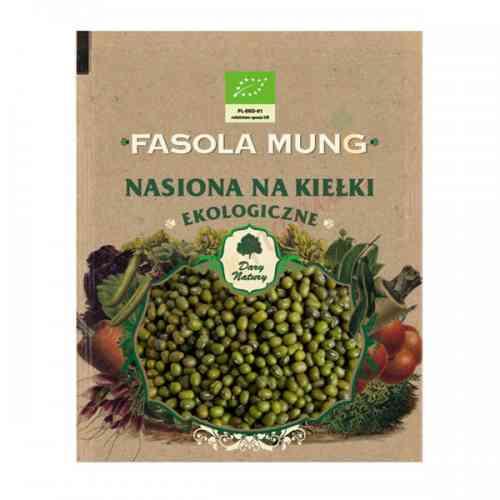 Fasola Mung - ekologiczne nasiona na kiełki 50g