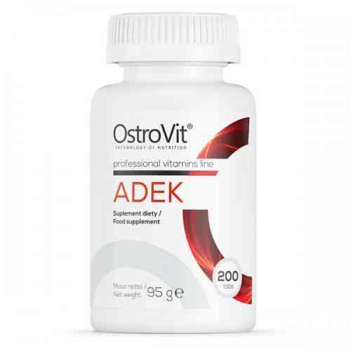 ADEK Kompleks witamin A D3 E K MK-7 200 tab. OstroVit