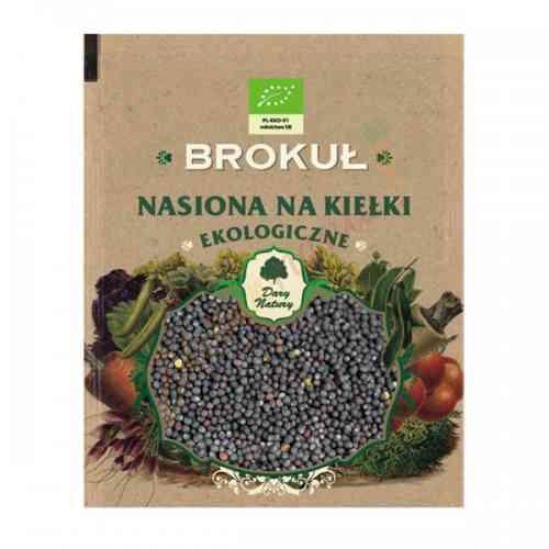 Brokuł - ekologiczne nasiona na kiełki 30g Dary Natury