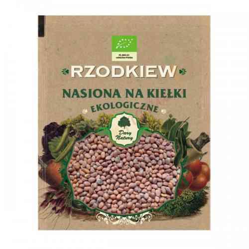 Rzodkiew - ekologiczne nasiona na kiełki 30g Dary Natury