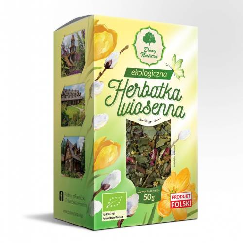 Herbata WIOSENNA ekologiczna 50g Dary Natury