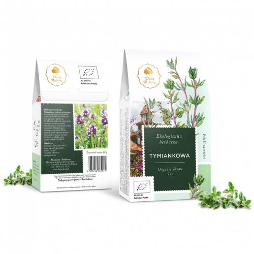 Herbata TYMIANKOWA ekologiczna 80g Dary Natury