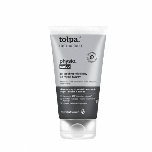 Żel-peeling micelarny do mycia twarzy 150ml Tołpa physio carbo
