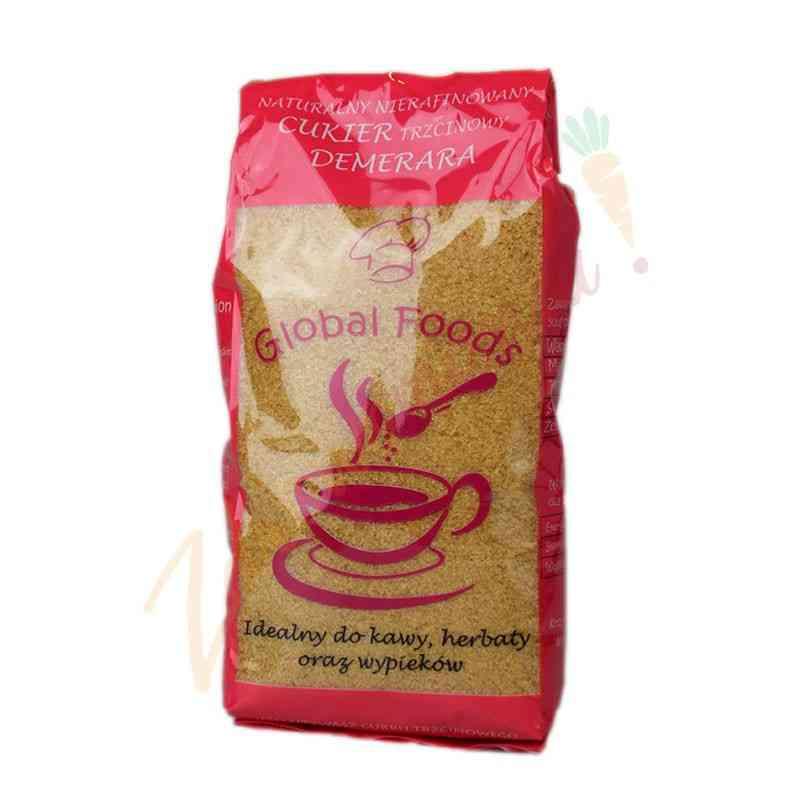Naturalny cukier trzcinowy DEMERARA 500g - Nierafinowany
