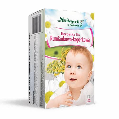 Herbatka fix RUMIANKOWO-KOPERKOWA dla dzieci 20x2g Herbapol Kraków