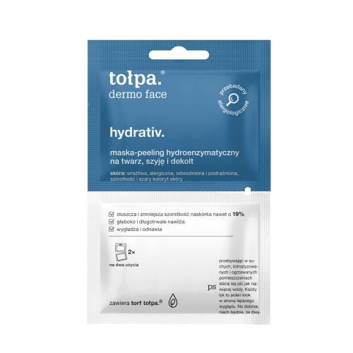 Maska-peeling hydroenzymatyczny na twarz, szyję i dekolt 2x6ml Tołpa hydrativ