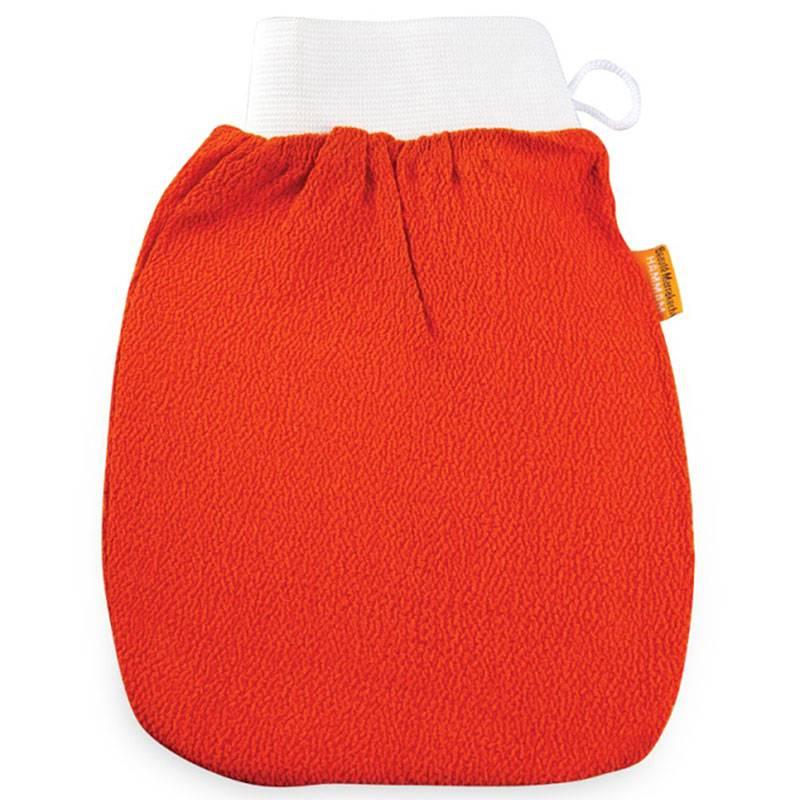 Rękawica Kessa do mycia i masażu ciała PREMIUM pomarańczowa