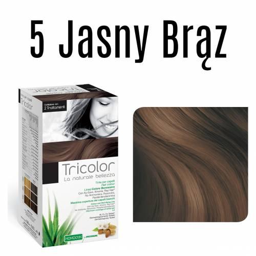 Naturalna farba do włosów TRICOLOR 5 Jasny Brąz 196 ml Specchiasol