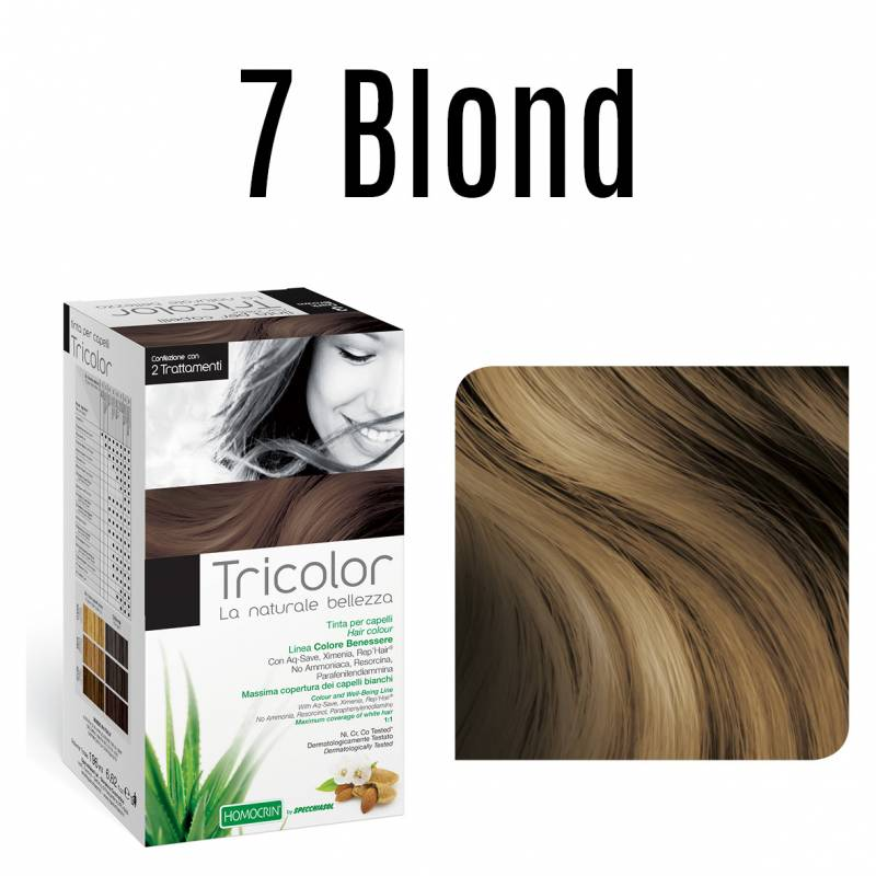 Naturalna farba do włosów TRICOLOR 1 Blond 196 ml Specchiasol