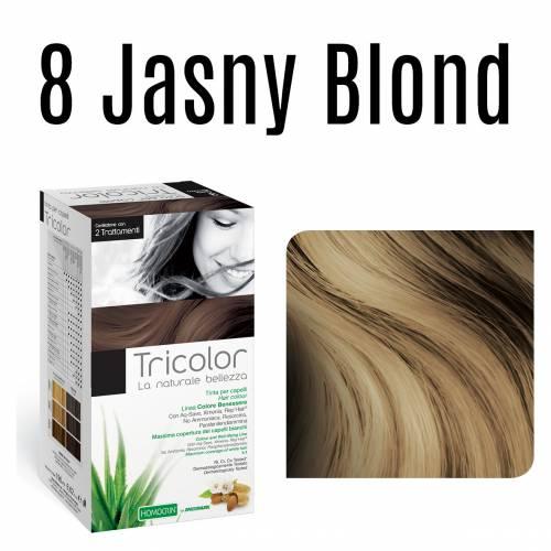 Naturalna farba do włosów TRICOLOR 8 Jasny Blond 196 ml Specchiasol