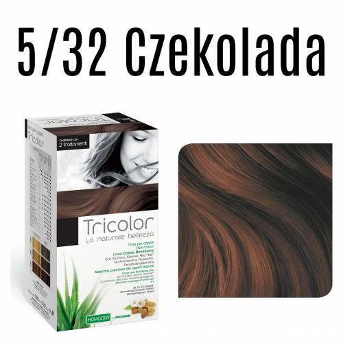 Naturalna farba do włosów TRICOLOR 5/32 Czekolada 196 ml Specchiasol