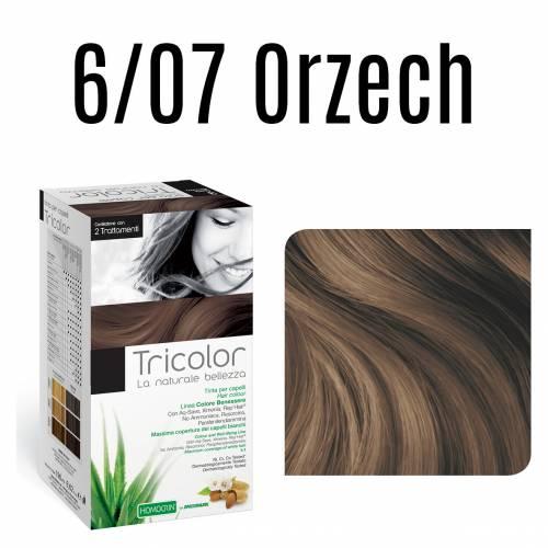 Naturalna farba do włosów TRICOLOR 6/07 Orzech 196 ml Specchiasol