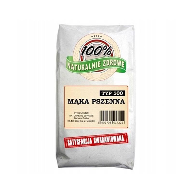 Mąka PSZENNA typ 500 niestabilizowana chemicznie 1kg Naturalnie Zdrowe