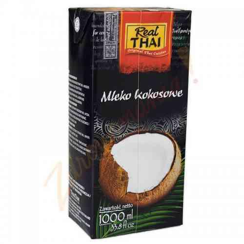 Mleczko kokosowe bez konserwantów 1 litr Real Thai
