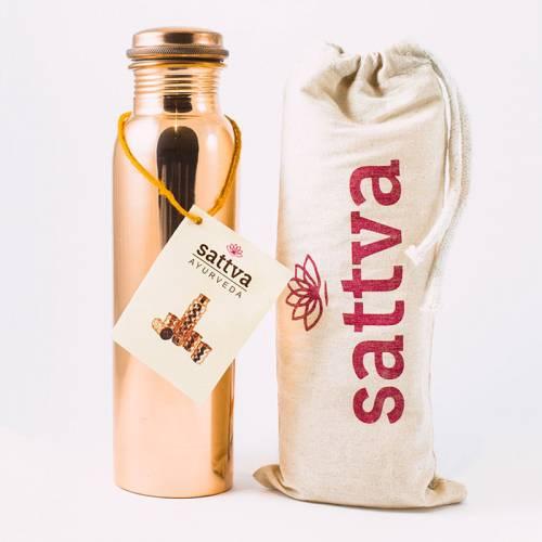 Indyjska butelka miedziana GŁADKA 950ml
