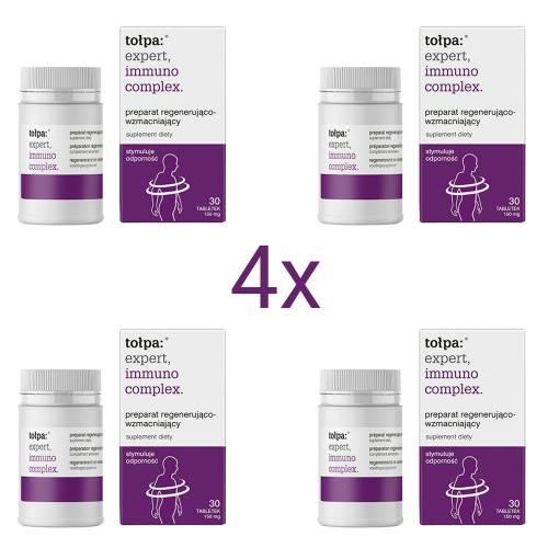 Preparat regenerująco-wzmacniający 4 x 30 tabletek 150 mg Tołpa expert, immuno complex.