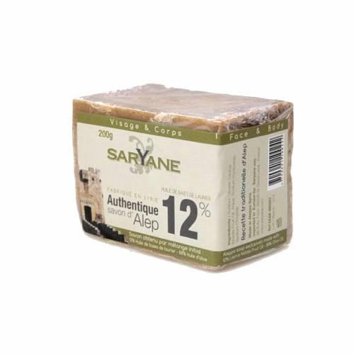 Tradycyjne mydło Aleppo 12% oleju laurowego 200g Saryane