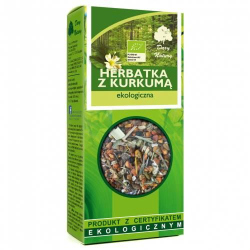 Ekologiczna herbata z kurkumą 100g Dary Natury