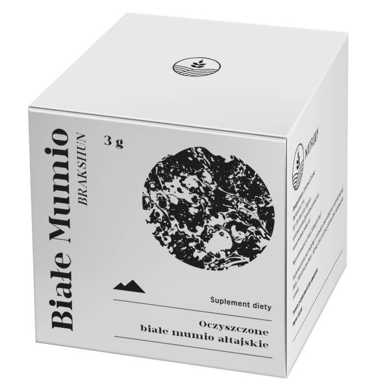 Białe MUMIO ałtajskie, suplement diety 3g Natruly