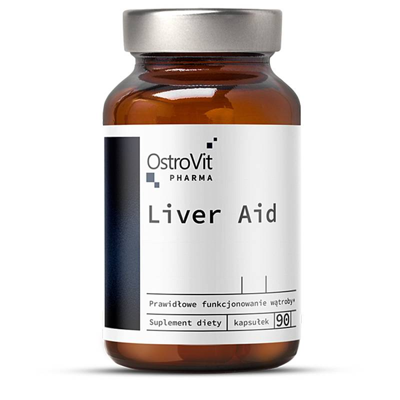 Liver Aid na wątrobę, detoks 90 Kapsułek OstroVit Pharma