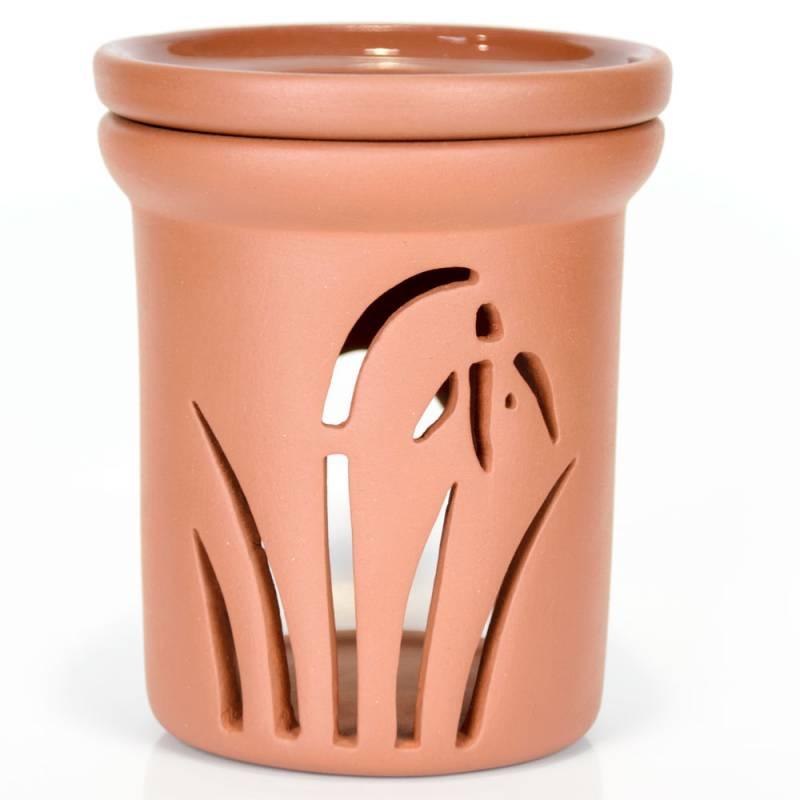 Ceramiczny kominek walcowy do aromaterapii KWIAT Green Village