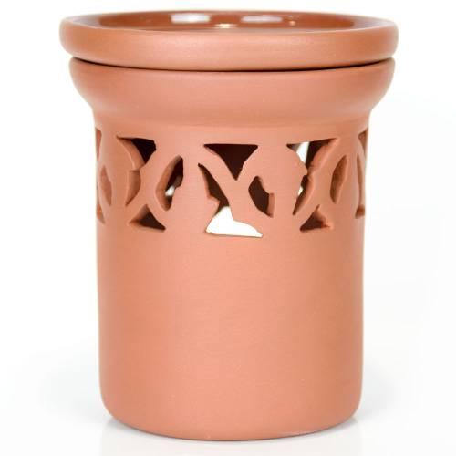 Ceramiczny kominek walcowy do aromaterapii ORNAMENT Green Village