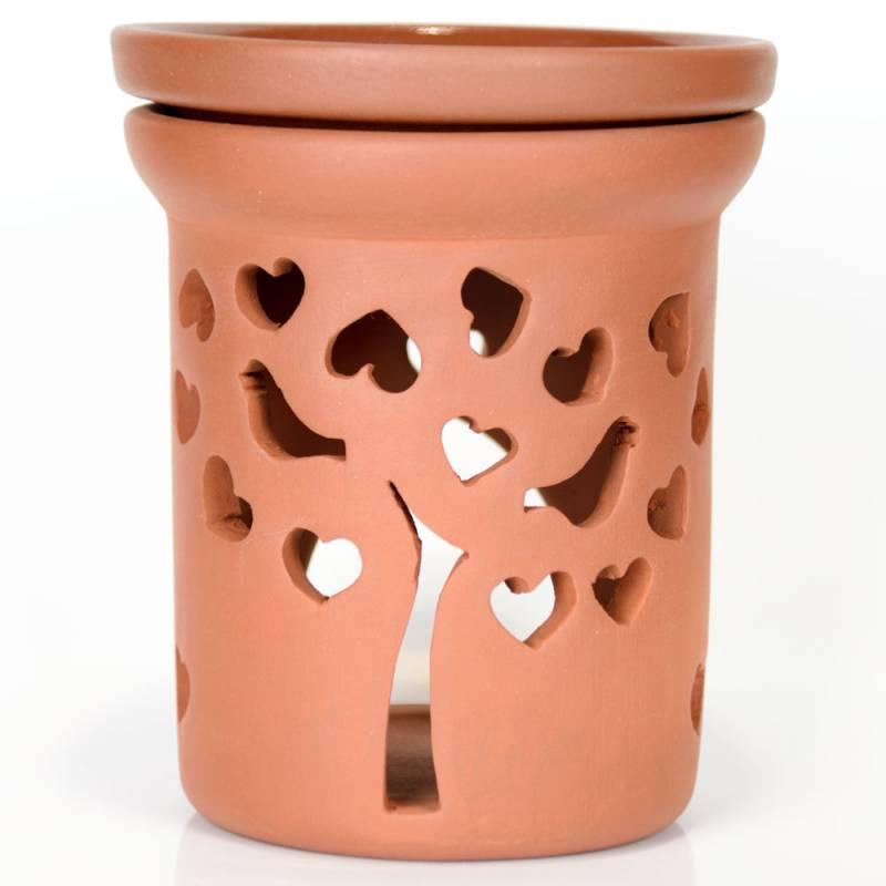 Ceramiczny kominek walcowy do aromaterapii PARADISE Green Village