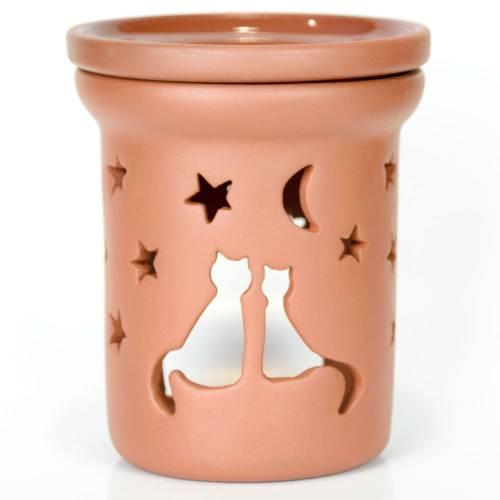 Ceramiczny kominek walcowy do aromaterapii KOTY Green Village