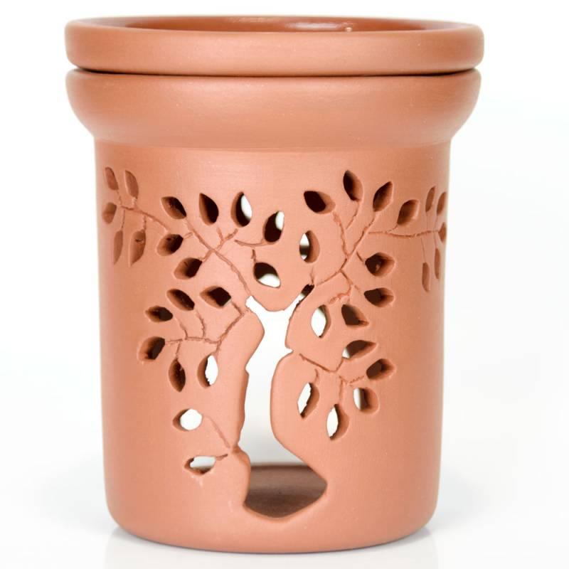Ceramiczny kominek walcowy do aromaterapii BONSAI Green Village