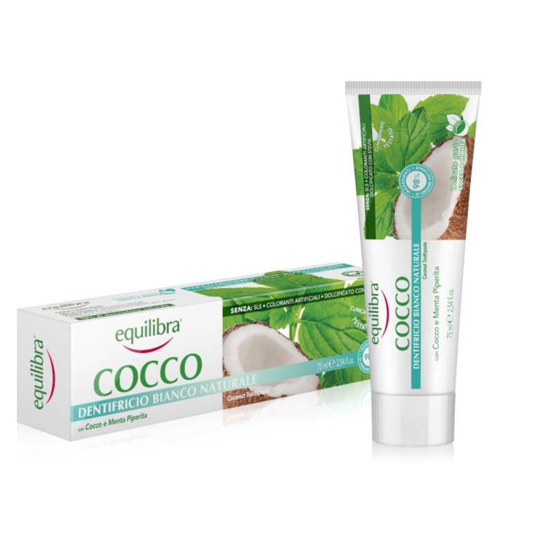 Kokosowa pasta do zębów kokosowa NATURALNA BIEL 75ml Equilibra