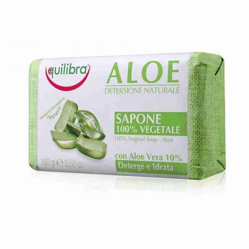 Naturalne mydło z ALOESEM do twarzy i ciała 100g Equilibra