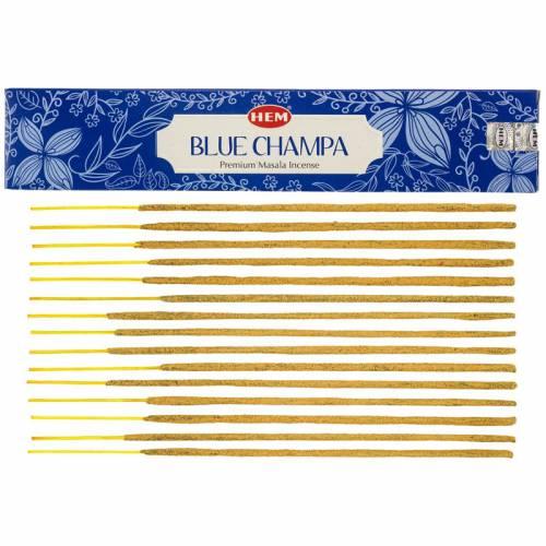 Kadzidła szlachetne pyłkowe BLUE CHAMPA 15g Premium Masala HEM