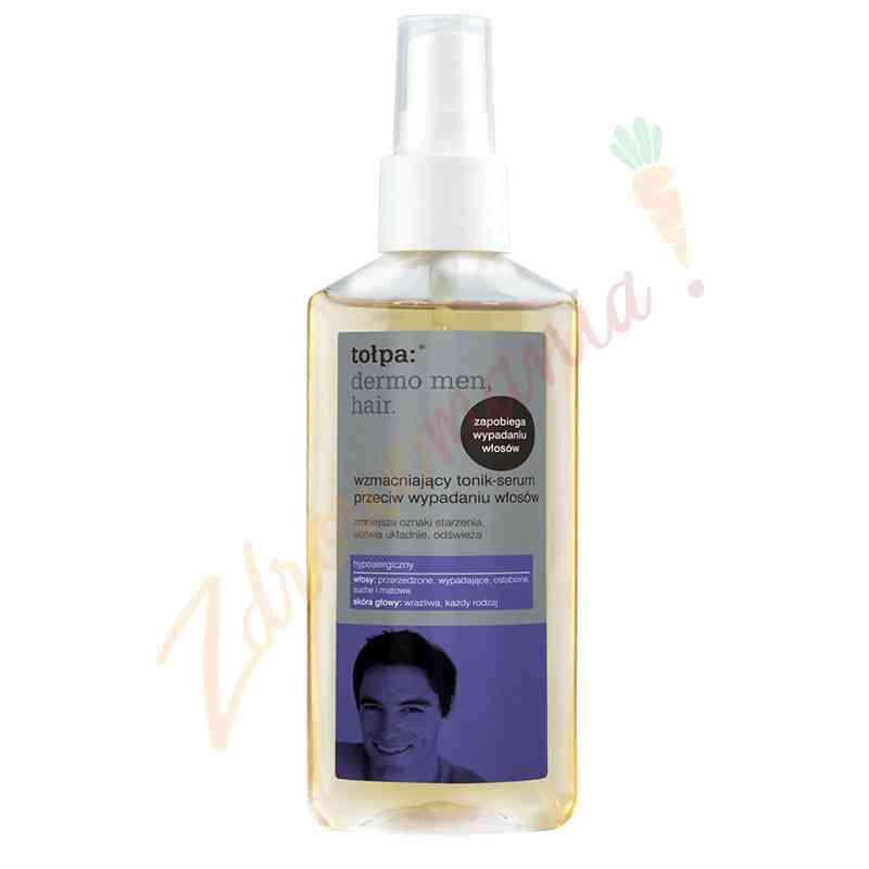 Wzmacniający tonik-serum przeciw wypadaniu włosów 100 ml, Tołpa dermo men, hair.