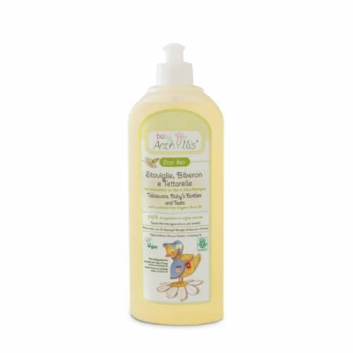 Płyn do mycia butelek i smoczków, z surfaktantem z oliwy z oliwek z upraw ekologicznych 500ml Pierpaoli Baby Anthyllis