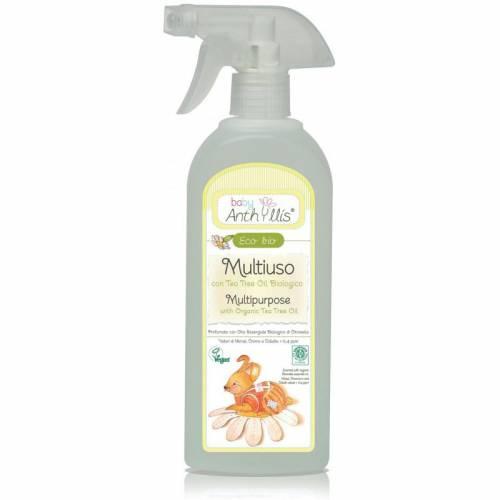 Płyn do czyszczenia powierzchni mających kontakt z dzieckiem, z organicznym olejkiem herbacianym 500ml Pierpaoli Baby Anthyllis