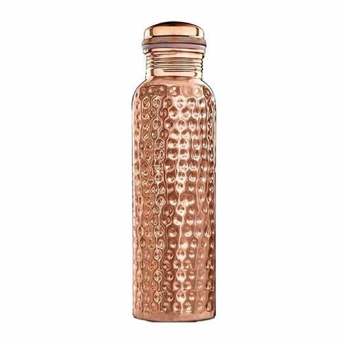 Miedziana butelka MŁOTKOWANA 650ml sattva