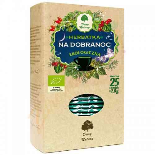 Herbata na dobranoc ekologiczna 25x2g Dary Natury