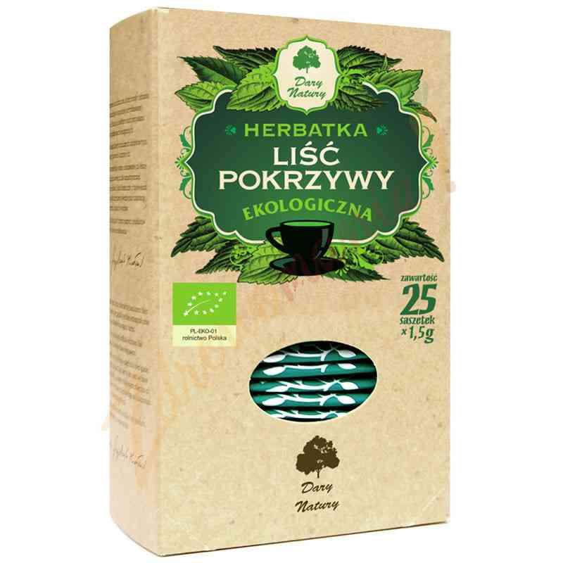 Herbata pokrzywowa (liść pokrzywy) ekologiczna 25x1,5g Dary Natury