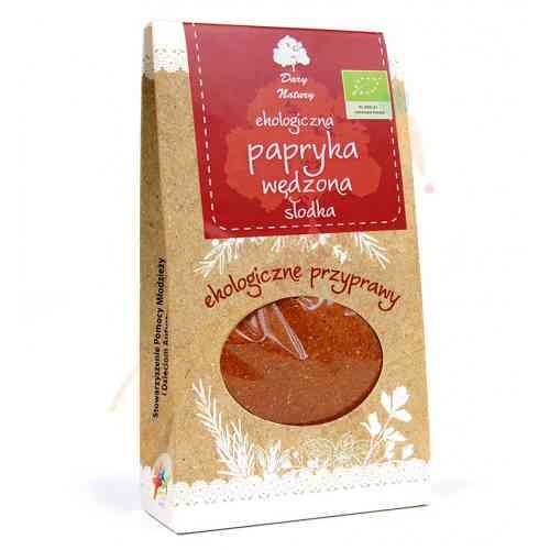 Papryka wędzona słodka ekologiczna 50g Dary Natury